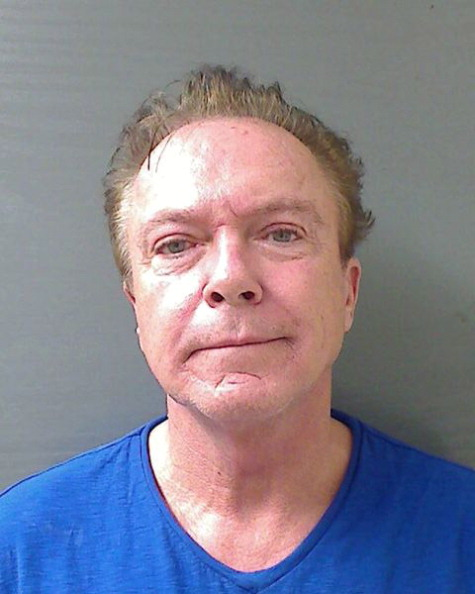 SCHODACK, NY - AUGUST 21: In this handout photo provided by the Schodack Police Department, David Cassidy is seen in a police booking photo after his arrest on charges of felony DWI, driving while intoxicated, August 21, 2013 in Schodack, New York. Cassidy was released on USD 2,500 bail and is scheduled to appear in court September 4. (Photo by Schodack Police Department via Getty Images)
