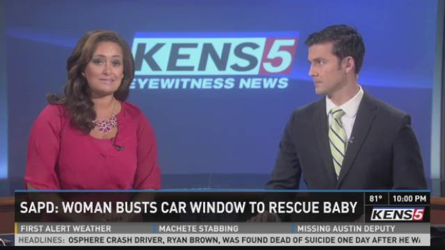 Texas woman rescues baby from hot car