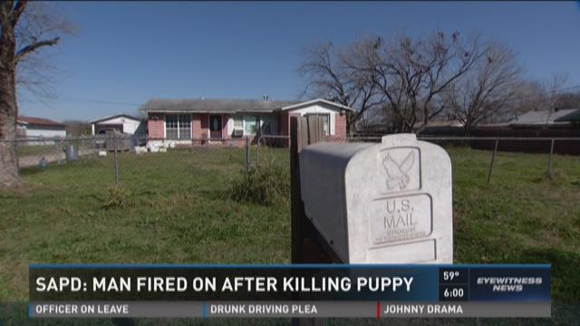 SAPD: Man fired on after killing puppy