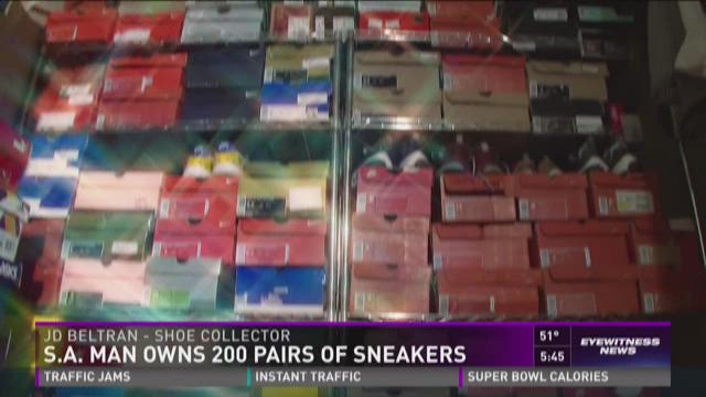 S.A. man owns 200 pairs of sneakers