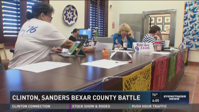 Bernie Sanders volunteers head out in pairs to canvass, just days before early voting begins.