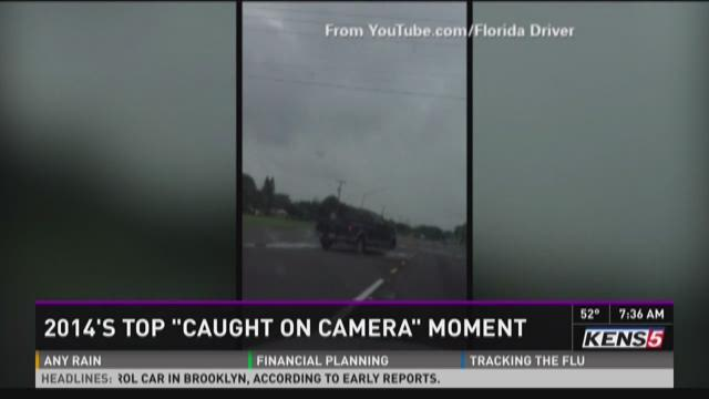 """2014's top """"caught on camera"""" moment"""