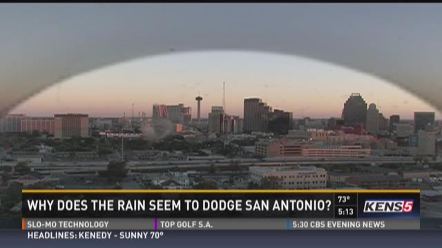 Why does the rain seem to dodge San Antonio?