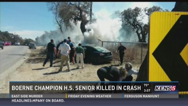 Boerne Champion HS senior killed in crash