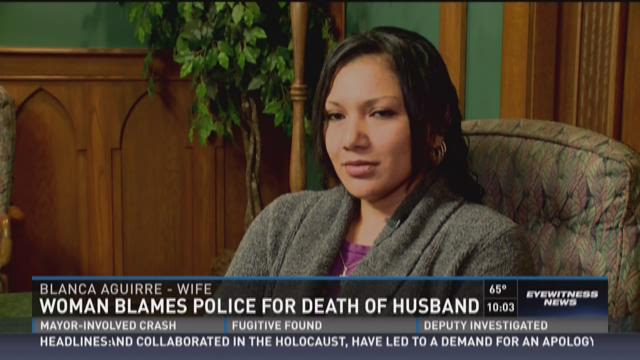 Woman blames police for death of husband