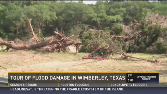 Tour of flood damage in Wimberley, Texas
