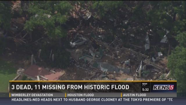 3 dead, 11 missing from historic flood