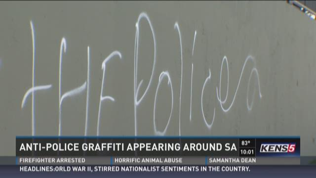 Anti-police graffiti appearing around S.A.