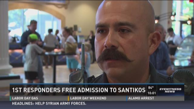 First responders get free admission to Santikos Theaters