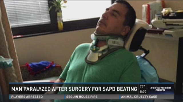 Roger Carlos is paralyzed from the chest down