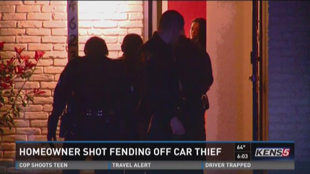 Homeowner shot fending off car thief